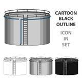 Oil storage tank.Oil single icon in cartoon style vector symbol stock illustration web. Oil storage tank.Oil single icon in cartoon style vector symbol stock Royalty Free Stock Image