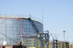 Oil storage tank Royalty Free Stock Photos