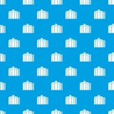 Oil storage tank pattern vector seamless blue. Repeat for any use Stock Photos