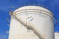 Storage oil tank. Oil storage tank at a refinery Stock Image