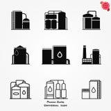 Oil storage tank, oil single vector icon in flat style. Vector, icon storage tank for oil illustration royalty free illustration