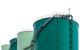 Oil storage tank Royalty Free Stock Images