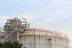Oil storage tank Stock Photos