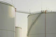 Oil storage tanks. Paldiski, Estonia Stock Image