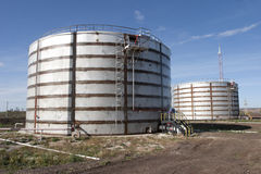 Oil storage tanks. Industry. Oil storage tanks. Fuel Royalty Free Stock Photography