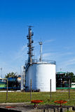 Oil storage tanks Stock Image