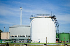 Oil storage tanks Stock Photography