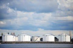 Oil Storage tanks Royalty Free Stock Photography