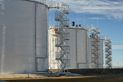 Oil storage tanks. Stock Images