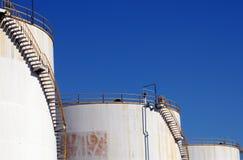 Oil storage tanks stock image