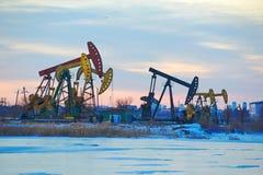 The oil sucking machines Stock Photo