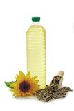 Oil with Sunflower Royalty Free Stock Photos
