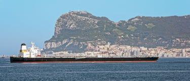 Oil supertanker in Gibraltar Royalty Free Stock Photos