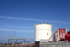 Oil tank. And blue sky Royalty Free Stock Photography