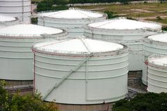 Oil tank Stock Photo