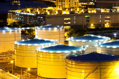 Oil tank in cargo service terminal Royalty Free Stock Photo