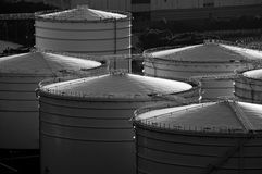 Oil tank in cargo terminal service centre Royalty Free Stock Photography