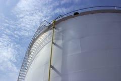 Oil tank closeup Stock Photo