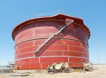 Oil tank construction Stock Image