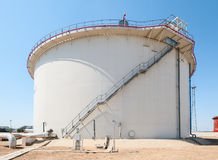 Oil tank construction Royalty Free Stock Image
