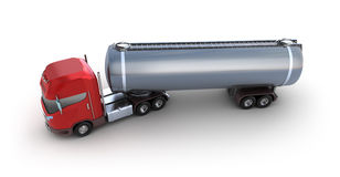 Oil Tank Delivery Vehicle. Over white Stock Photos