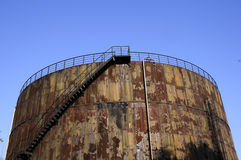 Oil tank in the energy shortage time Stock Images