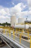 Oil tank farm in refinery Royalty Free Stock Photo
