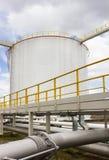 Oil tank farm in refinery Stock Image