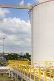 Oil tank farm in refinery Royalty Free Stock Image