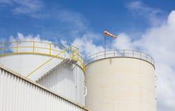 Oil tank farm in refinery Stock Photo