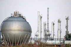 Oil tank petrochemical plant Stock Photos