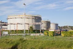 Oil tank refinery Royalty Free Stock Image