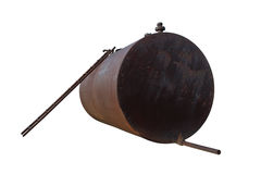 Oil Tank. Rusty cylinder tank isolated on white background Royalty Free Stock Photos