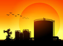 Oil tank storage Stock Image