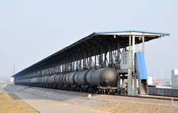 Oil tank train Stock Photo