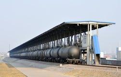 Oil Tank Train Stock Photo