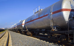 Oil tank train Stock Image