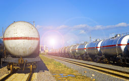 Oil tank train Royalty Free Stock Photos
