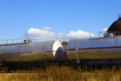 Oil tank train Royalty Free Stock Images