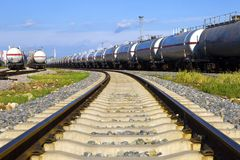 Oil tank train Royalty Free Stock Photo