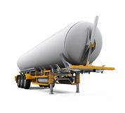 Oil Tank Truck Isolated. On white background. 3D render Stock Photos