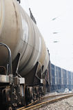 Oil tank truck train Stock Image