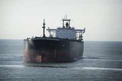 Oil tanker. At the ocean Stock Photos