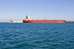 Oil tanker. Docked in port Royalty Free Stock Photography