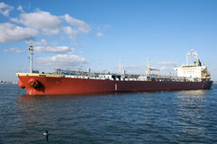 Oil tanker. Near the port of Los Angeles Stock Image