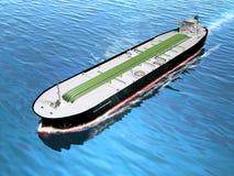 Oil tanker. Cruising in the ocean. Digital illustration Stock Photo