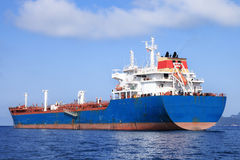 Oil tanker. Large blue oil tanker sailing Stock Photography