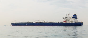 Oil tanker at anchor Stock Photo