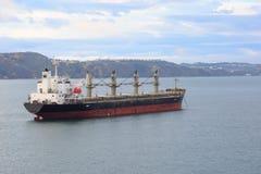 Oil tanker at anchor near Wellington Stock Photos