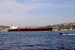 Oil Tanker in the Bosphorus Royalty Free Stock Photo